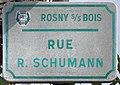 Plaque Rue Robert Schumann - Rosny-sous-Bois (FR93) - 2021-04-15 - 1.jpg