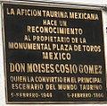 Plaque dedicated the owner - Plaza Mexico.jpg