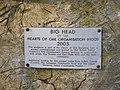 Plaque on Big Head - geograph.org.uk - 1054785.jpg