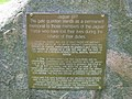 Plaque on former gate guard - geograph.org.uk - 886007.jpg