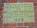 Plaque on the Reading Room - geograph.org.uk - 564073.jpg