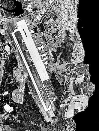 Plattsburgh Air Force Base - USGS aerial photo as of 4 May 1994