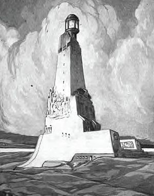Pointe de Grave - The American monument marking the country's entry into World War 1 as it was proposed in 1921