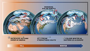 Polar vortex - Polar vortex and weather impacts due to stratospheric warming