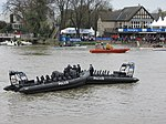 Police Boat at end of Boat Race 2012 (6908328194).jpg