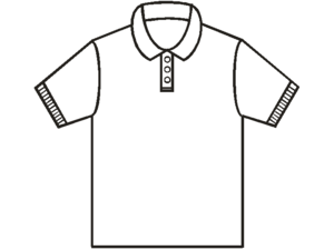 English: Basic pattern of a polo shirt Magyar:...