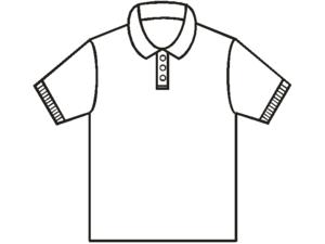 English: Basic pattern of a polo shirt Magyar:...