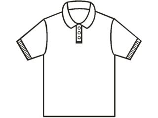 Polo shirt form of shirt