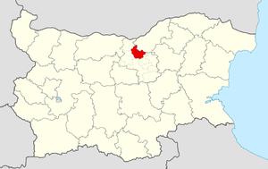 Polski Trambesh Municipality - Image: Polski Trambesh Municipality Within Bulgaria