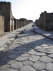 Strada romana a Pompei