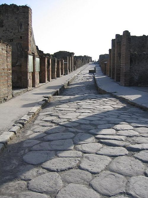 A Roman street in Pompeii