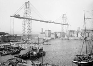 Battle of Marseille - The Marseille transporter bridge