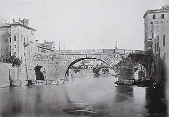 Pons Cestius - Image: Ponte Cestio, Rome, Italy. Pic 01