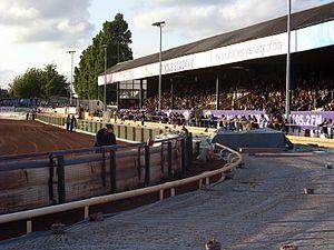 Poole Stadium - The east grandstand