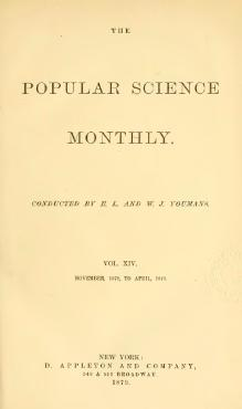 Popular Science Monthly Volume 14.djvu