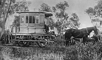 Port Broughton, South Australia - The 10 miles long horse-drawn tramway was opened in 1876