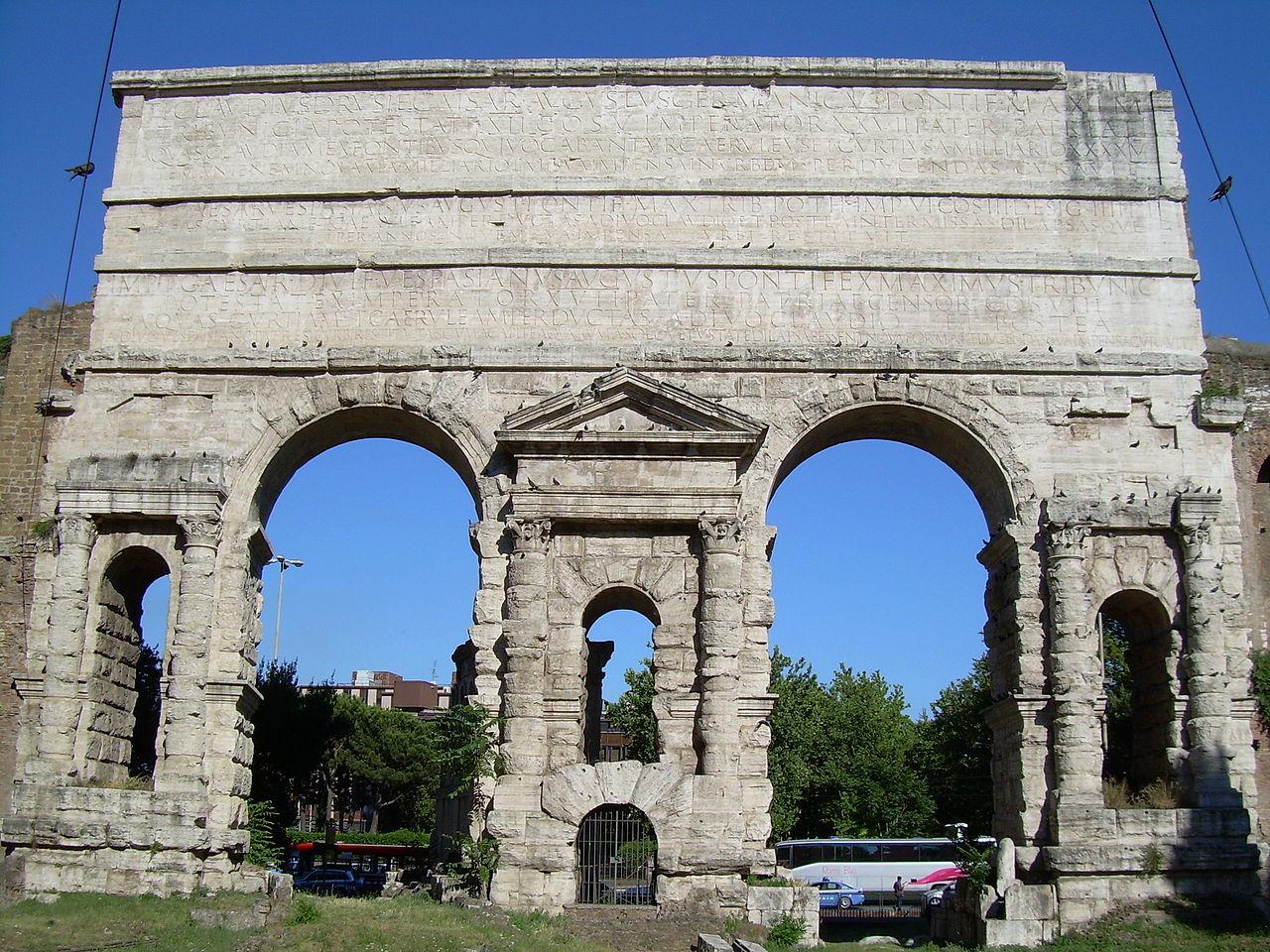 File porta maggiore roma jpg wikimedia commons for Porta maggiore