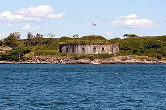 Harbor Defenses of Portland - Part of Fort Scammell.
