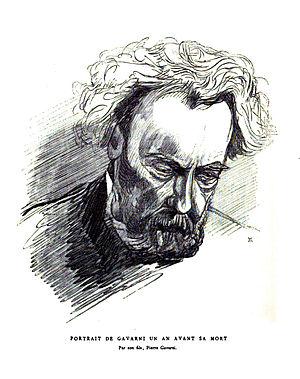 Paul Gavarni - Portrait of Paul Gavarni, a year before his death, by his son Pierre