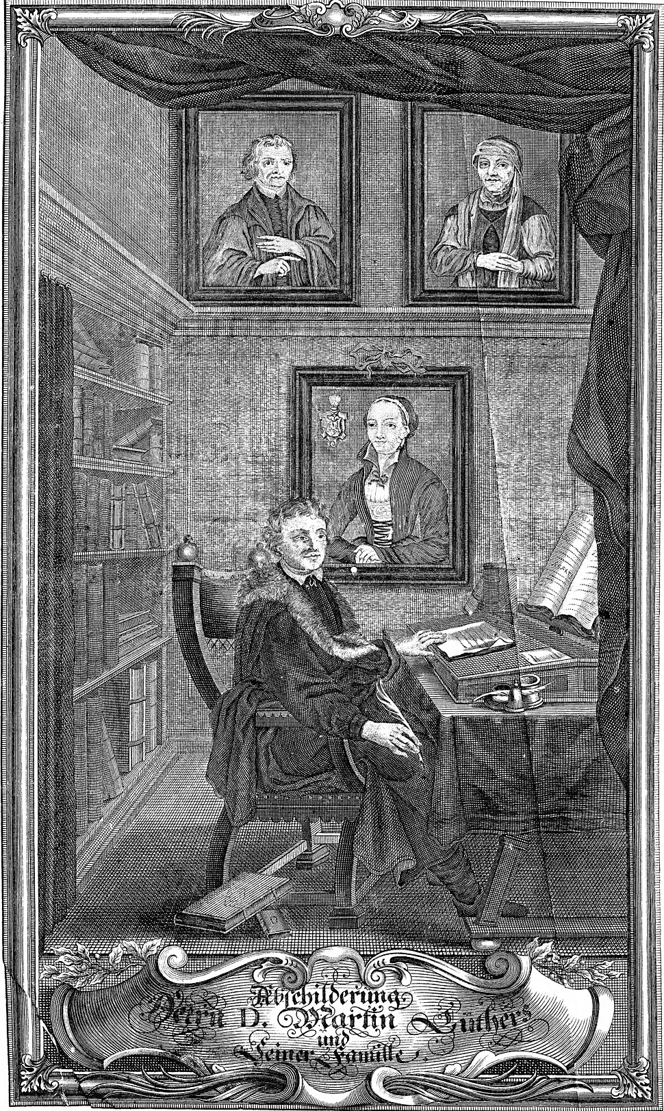 Portrait of Martin Luther at his Desk
