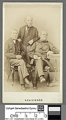 Samuel Roberts and his two brothers (of Llanbryn-mair)