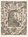 Portret van Filips II, koning van Spanje Philippus D.G. Hisp. Sicil. Neap. etc. Rex Archidux Austriæ etc. (titel op object) Portretten van vorsten en andere illustere figuren (serietitel) Imagines Quorundam Principum , RP-P-1904-1455.jpg