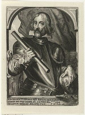 Portret van Paul-Bernard de Fontaine Theatrum pontificum, imperatorum, regum, ducum (serietitel), RP-P-1906-706