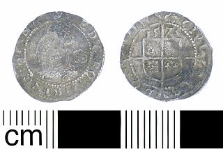 Three halfpence (English coin) Archaic English coin (1561–1582)