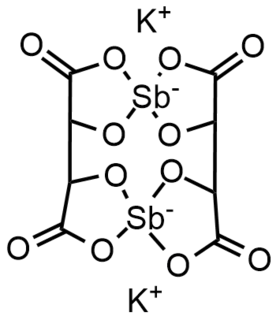 Antimony potassium tartrate chemical compound