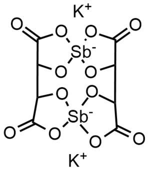 Antimony potassium tartrate - Image: Potassium antimonyl tartrate