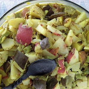Potato salad - A coarse cut potato salad