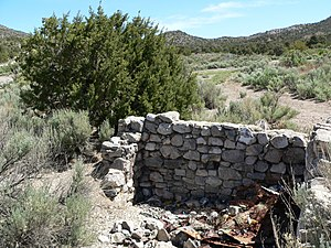 Potosi Mining District - Ruins near Potosi Spring
