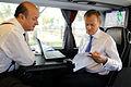 Premier Donald Tusk rozmawia z Ministrem Jackiem Rostowskim m.in. o budżecie na rok 2012 (6168456945).jpg