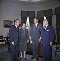 """President John F. Kennedy Meets with Planning Group for """"New York's Birthday Salute to the President"""" JFKWHP-KN-C20811.jpg"""