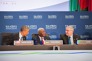 Guy Scott - Guy Scott attending the United States–Africa Leaders Summit.