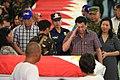 President Rodrigo R. Duterte salutes a soldier slain in an Abu Sayyaf encounter in Sulu 02.jpg