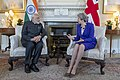 Prime Minister Theresa May meeting with Prime Minister Narendra Modi at 10 Downing Street.jpg