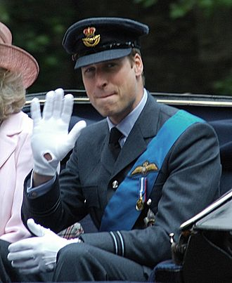 Flight lieutenant - Prince William in his then flight lieutenant's uniform