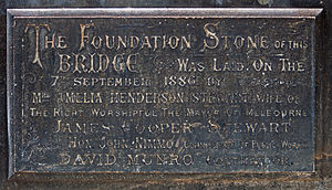Princes Bridge - Image: Princes Bridge Foundation Stone