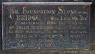 Princes Bridge - The foundation stone of Princes Bridge