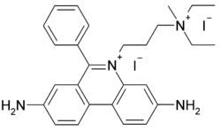 Structural formula of propidium iodide