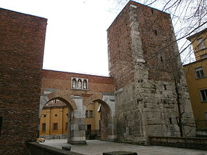 "Walls of Milan - ""Pusterla di Sant'Ambrogio"", one of the remaining medieval posterns"