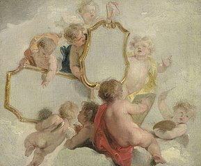 Putti with mirrors