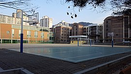 Pyongchon Technical High School View Watched from Back of the Basketball court.jpg