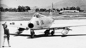 A U.S. Navy QF-86 Sabre drone of the Pacific M...
