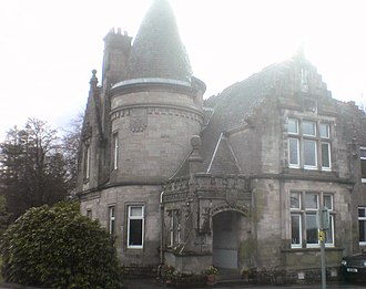 Quarrier's Village - Sabbath School Home (1894), built from funds donated by Sunday School children across Scotland, later serving as a home for adults with epilepsy. One of the few examples of Scottish Baronial architecture in the village.
