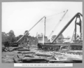 Queensland State Archives 3298 Erection of stock yard at bridge fabricating shops Rocklea 26 November 1935.png