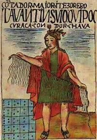 https://upload.wikimedia.org/wikipedia/commons/thumb/8/8c/Quipucamayoc.jpg/200px-Quipucamayoc.jpg
