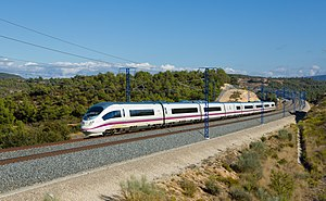 Madrid–Barcelona high-speed rail line - AVE Class 103 (Siemens Velaro) near Vinaixa