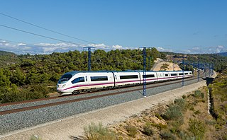 railway line connecting Madrid and Barcelona, in Spain
